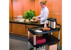 Smarte serveringsvogne gør det nemt at transportere mad og drikkevarer